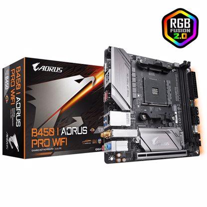 Fotografija izdelka GIGABYTE B450 I AORUS PRO WIFI AM4 miniITX DDR4 RGB gaming matična plošča