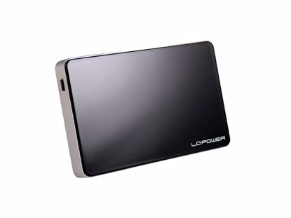 """Fotografija izdelka LC-POWER LC-25U3B Elektra USB3.0 za disk 6,35cm (2,5"""") črno zunanje ohišje"""