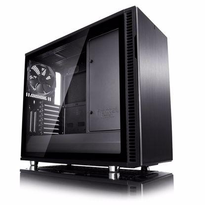 Fotografija izdelka FRACTAL DESIGN Define R6 Blackout TG MidiATX okno črno ohišje