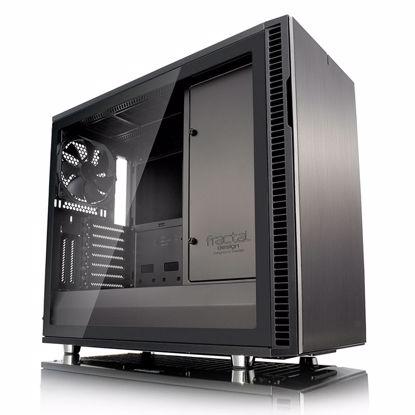 Fotografija izdelka FRACTAL DESIGN Define R6 USB-C Gunmetal TG MidiATX okno črno ohišje