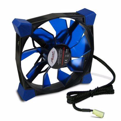 Fotografija izdelka INTER-TECH Nitrox L-120-B moder LED 120mm ventilator