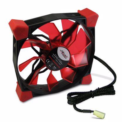 Fotografija izdelka INTER-TECH Nitrox L-120-R rdeč LED 120mm ventilator