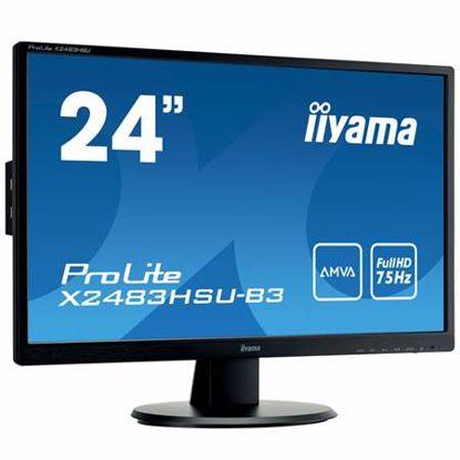 """Fotografija izdelka IIYAMA ProLite X2483HSU-B3 60,5cm (23,8"""") AMVA+ LED zvočniki LCD monitor"""
