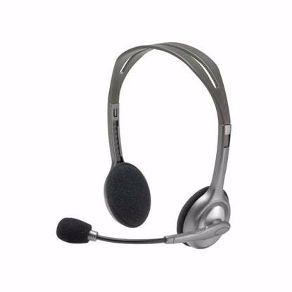 Fotografija izdelka LOGITECH H110 sive slušalke z mikrofonom