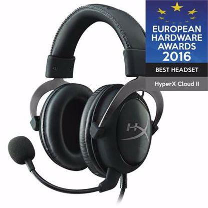 Fotografija izdelka HYPERX Cloud II Pro (KHX-HSCP-GM) USB kovinsko srebrne gaming slušalke