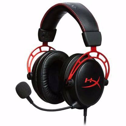 Fotografija izdelka HYPERX Cloud Alpha (HX-HSCA-RD/EM) črne z mikrofonom gaming slušalke
