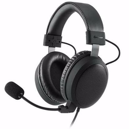 Fotografija izdelka SHARKOON B1 USB z mikrofonom črne gaming slušalke