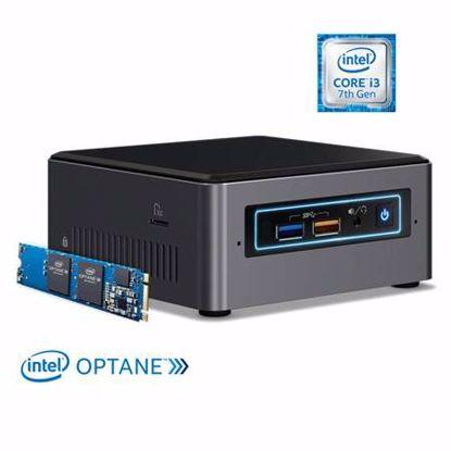 Fotografija izdelka INTEL NUC Kit NUC7i3BNHX1 (BOXNUC7I3BNHX1) 16GB Intel Optane barebone mini računalnik