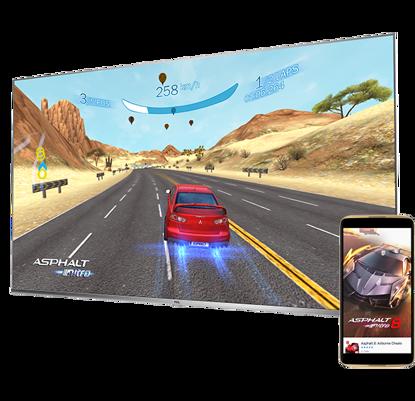 """Fotografija izdelka LED TV TCL 55"""" (diagonala 140cm) 55DP660, 4K UHD, Android, Smart, WiFi, 1500Hz, HDR Pro, 10bit, Wide Color Gamut, Ultra tanko ohišje"""
