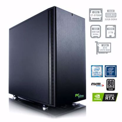 Fotografija izdelka PCPLUS Dream machine i7-9700K 32GB 500GB NVMe SSD + 2TB HDD GeForce RTX 2070 8GB
