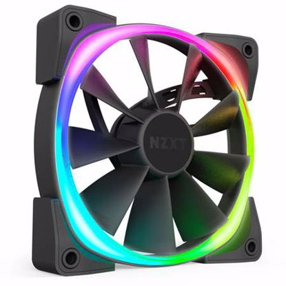 Fotografija izdelka NZXT Aer RGB 2 140mm 4-pin PWM (HF-28140-B1) RGB LED ventilator