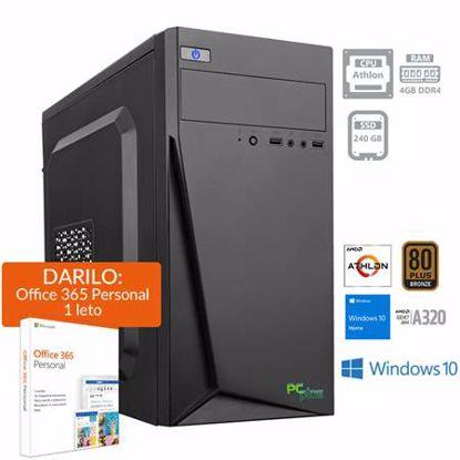 Fotografija izdelka PCPLUS i-net Athlon 200GE 4GB 240GB SSD Windows 10 Home + darilo: 1 leto Office 365 Personal namizni računalnik