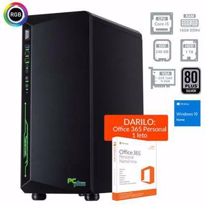 Fotografija izdelka PCPLUS Gamer i5-9400F 16GB 240GB SSD + 1TB GTX1660Ti 6GB Windows 10 Home + darilo: 1 leto Office 365 Personal
