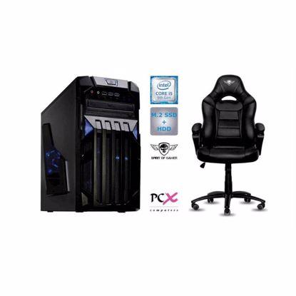 Fotografija izdelka PCX EXAM i5-9400F/8GB/SSD 256GB/HDD 1TB/nv1650-4GB in Gaming stol SOG FIGHTER W10PRO