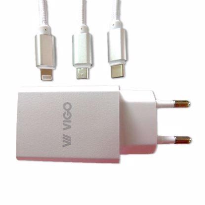 Fotografija izdelka Polnilec Komplet VIGO Quick Charge 2A