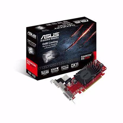 Fotografija izdelka ASUS Radeon R5 230 1GB GDDR3 Silent Low Profile (R5230-SL-1GD3-L) grafična kartica