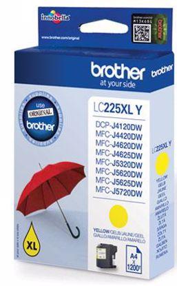 Fotografija izdelka Brother Kartuša LC225XLY, yellow, 1.200 strani MFC-J4620DW, MFC-J5320DW/5620DW/5720DW