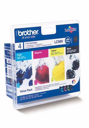 Fotografija izdelka Brother Kartuša LC980, ValuePack DCP145C/165C/195C/375 MFC250C/290C
