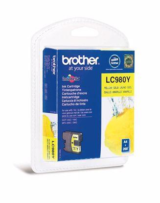 Fotografija izdelka Brother Kartuša LC980Y, yellow, 260 strani DCP145C/165C/195C/375 MFC250C/290C