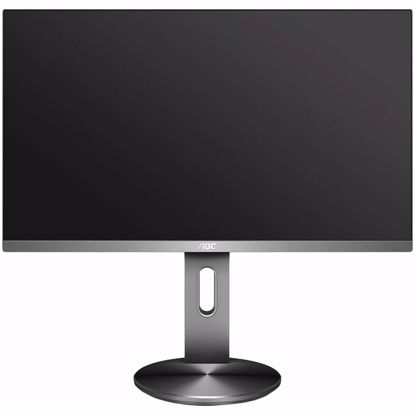 Fotografija izdelka AOC U2790PQU is equipped with a 4K (3840 x 2160) IPS panel, with excellent colour accuracy and a wide colour gamut. Designed with 3 frameless sides and an ergonomic stand.  HDMI 1.4 x 1, DisplayPort 1.2 x 1, HDMI 2.0 x 1 2 X USB 3.0 SPEAKERS