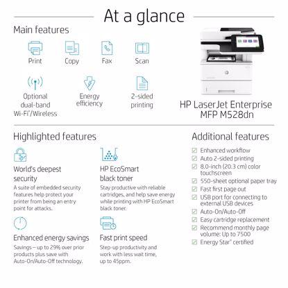 Fotografija izdelka Večfunkcijska laserska naprava HP LaserJet Enterprise Flow MFP M528z