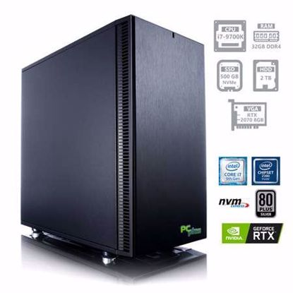 Fotografija izdelka PCPLUS Dream machine i7-9700K 32GB 500GB NVMe SSD + 2TB HDD GeForce RTX 2070 8GB W10PRO + OFFICE 2019 Home&Business