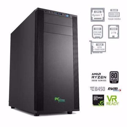Fotografija izdelka PCPLUS Dream machine Ryzen 7 3700X 16GB 250GB NVMe SSD + 2TB HDD GTX 1660 6GB W10PRO + OFFICE 2019 Home&Business