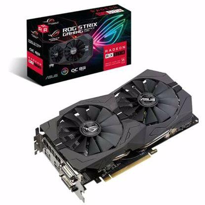 Fotografija izdelka ASUS ROG Strix Radeon RX570 OC 8GB GDDR5 (ROG-STRIX-RX570-O8G-GAMING) RGB gaming grafična kartica + darilo: brezplačna igra