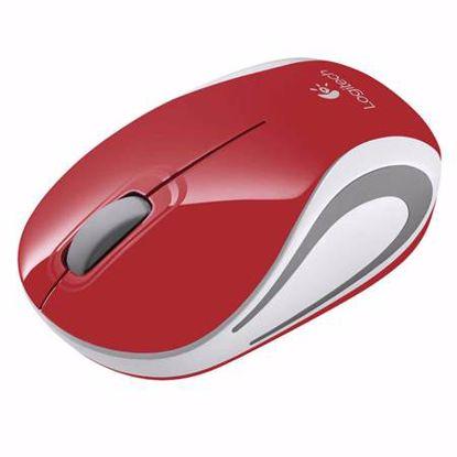 Fotografija izdelka LOGITECH M187 brezžična optična mini rdeča miška