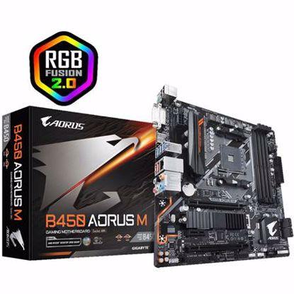 Fotografija izdelka GIGABYTE B450 AORUS M AM4 DDR4 mATX RGB gaming osnovna plošča