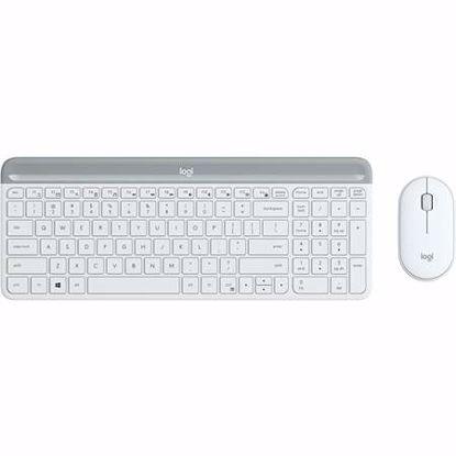 Fotografija izdelka LOGITECH MK470 Slim Combo brezžična bela tipkovnica + miška