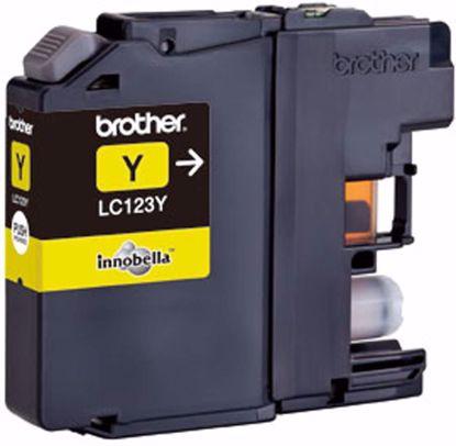 Fotografija izdelka Brother Kartuša LC123Y, yellow, 600 strani MFC-J4510DW, MFC-J4610/4710, DCP-J4110