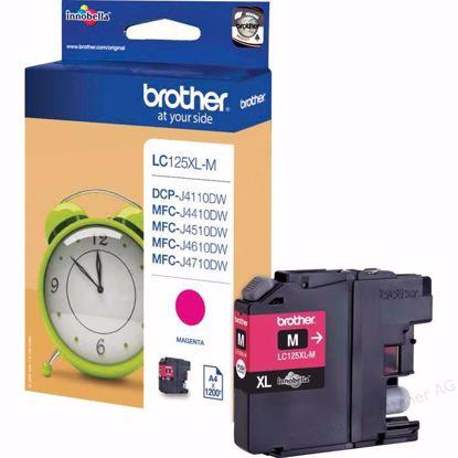 Fotografija izdelka Brother Kartuša LC125XLM, magenta, 1200 strani MFC-J4510DW, MFC-J6520/J6920, DCP-J4110