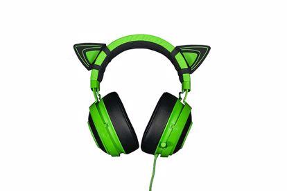 Fotografija izdelka Mačja ušesa za Razer Kraken Green slušalke