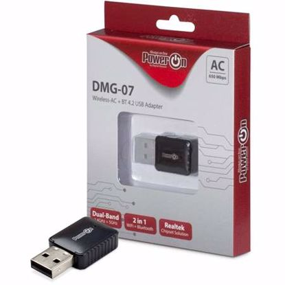 Fotografija izdelka INTER-TECH DMG-07 AC-650 WLAN & Bluetooth brezžični Dual Band mrežni adapter