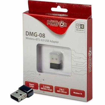 Fotografija izdelka INTER-TECH DMG-08 WiFi 150Mbps Bluetooth 4.0 USB 2.0 adapter