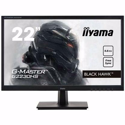 """Fotografija izdelka IIYAMA G-MASTER Black Hawk G2230HS-B1 54,7cm (21,5"""") FHD TN HDMI/DP/VGA FreeSync 0,8ms 75 Hz zvočniki gaming LED LCD monitor"""