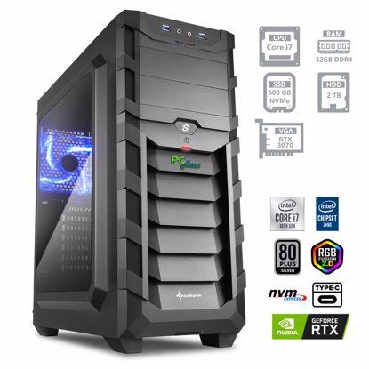 Fotografija izdelka PCPLUS Dream machine i7-10700 32GB 500GB NVMe SSD 2TB HDD GeForce RTX 3070 8GB RGB DOS