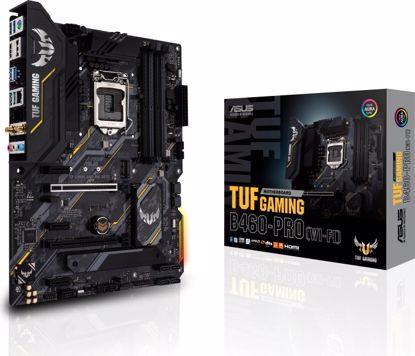 Fotografija izdelka ASUS TUF GAMING B460-PRO (WI-FI), DDR4, SATA3, USB3.2Gen2, DP, WiFi, LGA1200 ATX