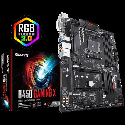 Fotografija izdelka GIGABYTE B450 GAMING X, DDR4, SATA3, USB3.1Gen1, HDMI, AM4 ATX