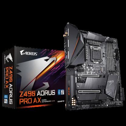 Fotografija izdelka GIGABYTE Z490 AORUS PRO AX, DDR4, SATA3, USB3.2Gen2, HDMI, WiFi 6 802.11ax modul, Intel 2.5GbE LAN, LGA1200 ATX