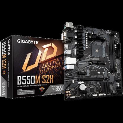 Fotografija izdelka GIGABYTE B550M S2H, DDR4, SATA3, USB3.2Gen1, HDMI, AM4 mATX