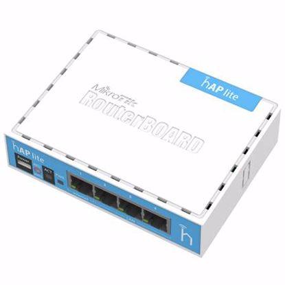 Fotografija izdelka MIKROTIK hAP lite classic RB941-2nD 2.4ghz 4-port brezžična dostopna točka