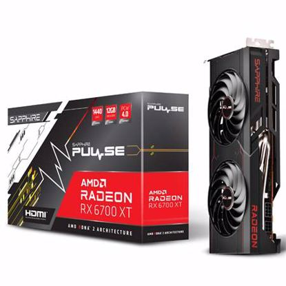 Fotografija izdelka SAPPHIRE Radeon RX 6700 XT 12GB GDDR6 (11306-02-20G) PULSE gaming grafična kartica