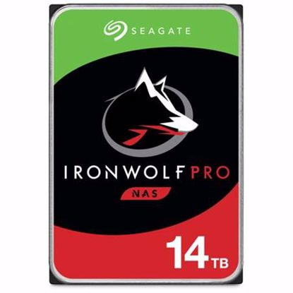 Fotografija izdelka SEAGATE IronWolf PRO NAS 14TB 3,5'' SATA3 256MB 7200rpm (ST14000NE0008) trdi disk