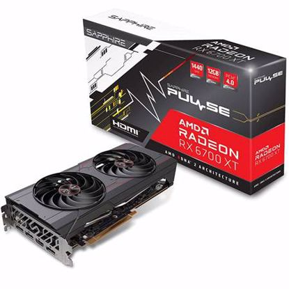 Fotografija izdelka SAPPHIRE Radeon RX 6700 XT 12GB GDDR6 (11306-05-20G) PULSE OC gaming grafična kartica