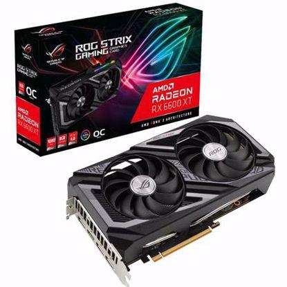Fotografija izdelka ASUS ROG Strix Radeon RX 6600 XT 8GB GDDR6 (90YV0GN0-M0NA00) OC gaming grafična kartica